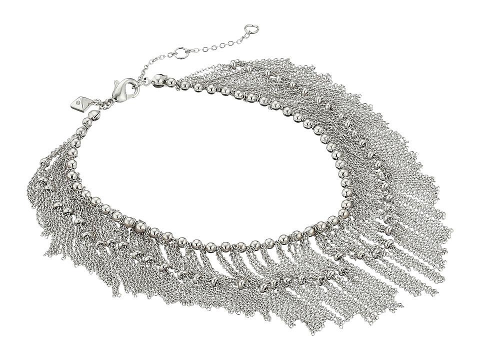 Rebecca Minkoff - Mesh Anklet (Imitation Rhodium) Bracelet