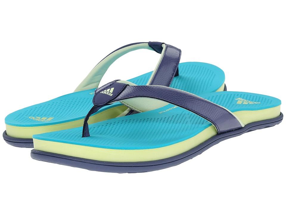 adidas - Cloudfoam Ultra Thong (Super Purple/Shock Green/Halo) Women's Sandals