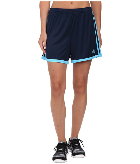 adidas - Tiro 13 Shorts (Light Grey/Bold Blue) Women's Shorts