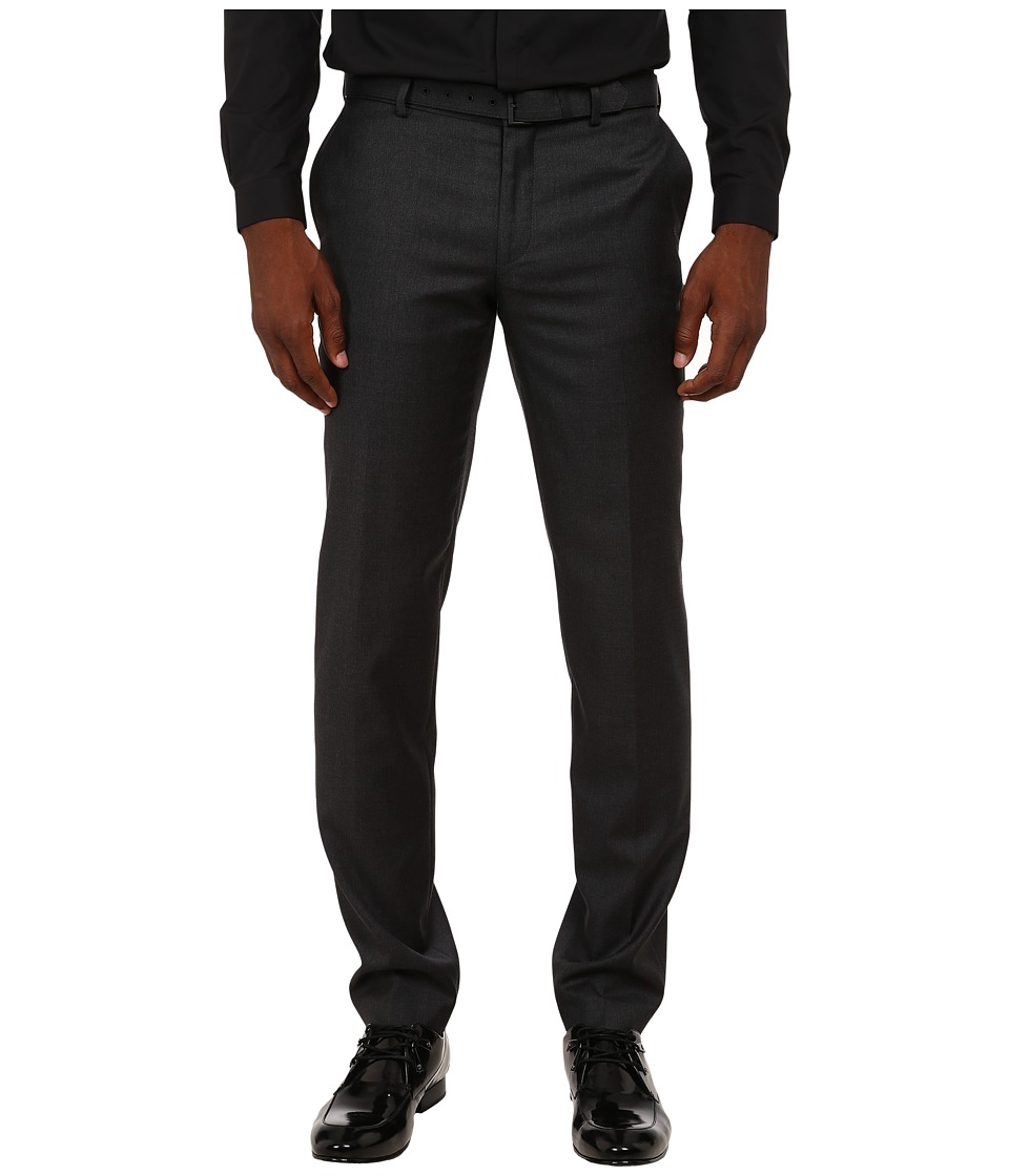 The Kooples - Fitted Tailor Super 100 Trousers (Grey) Men's Casual Pants