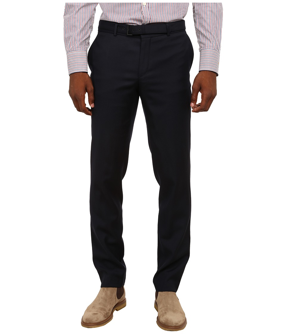 The Kooples - Classic Tailor Super 100 Trousers (Navy) Men's Casual Pants