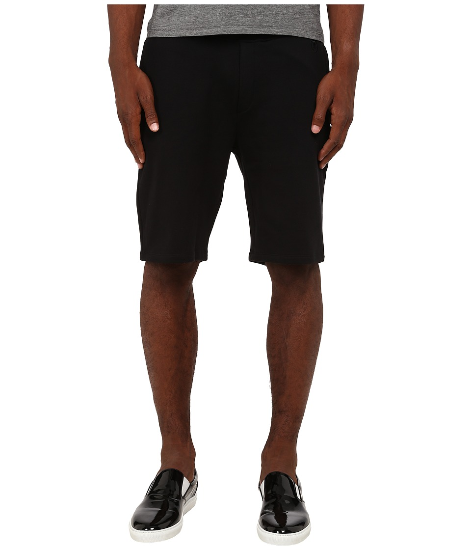 The Kooples - Sport Classic Fleece Sweatshorts (Black) Men's Fleece