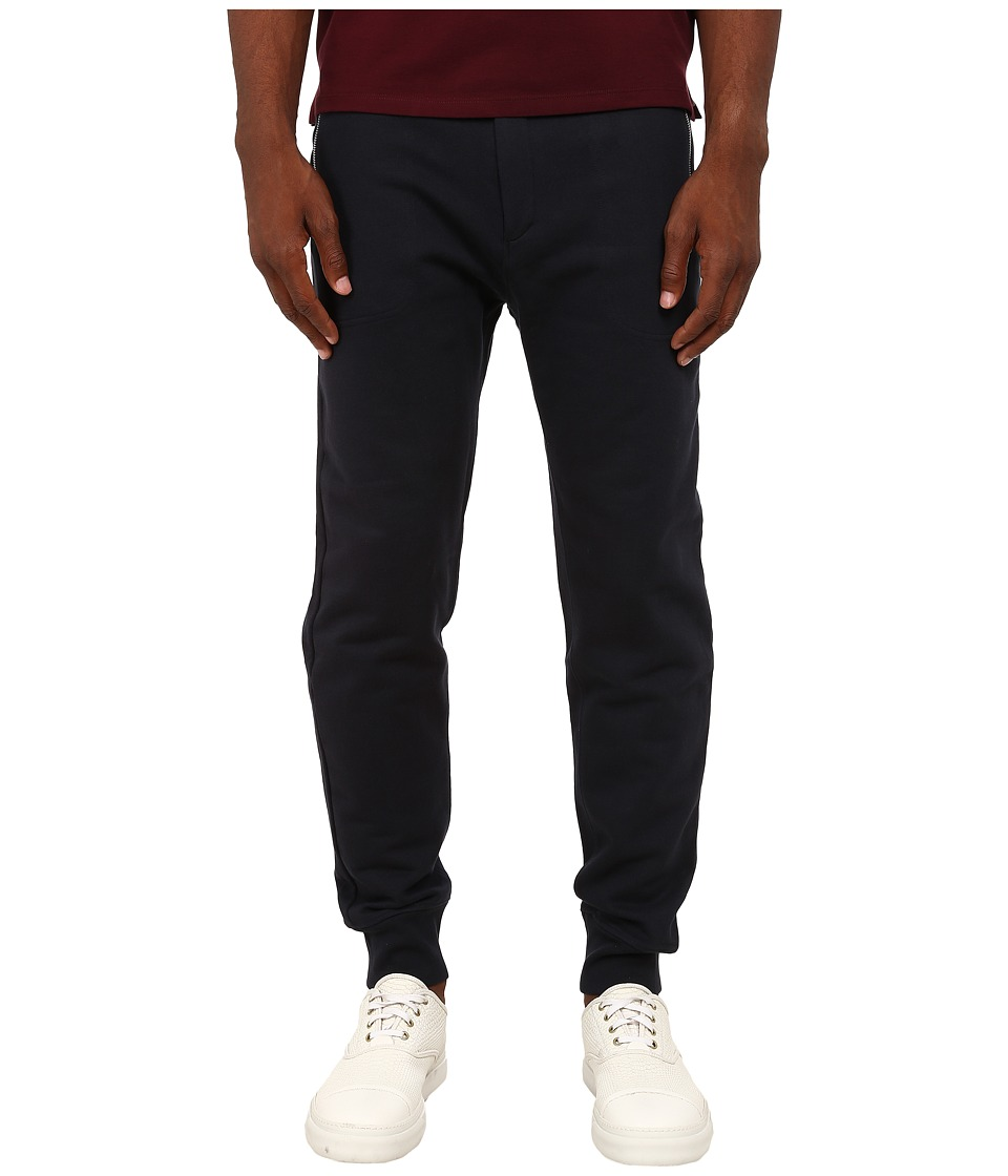 The Kooples - Sport Classic Fleece Sweatpants (Navy) Men's Fleece