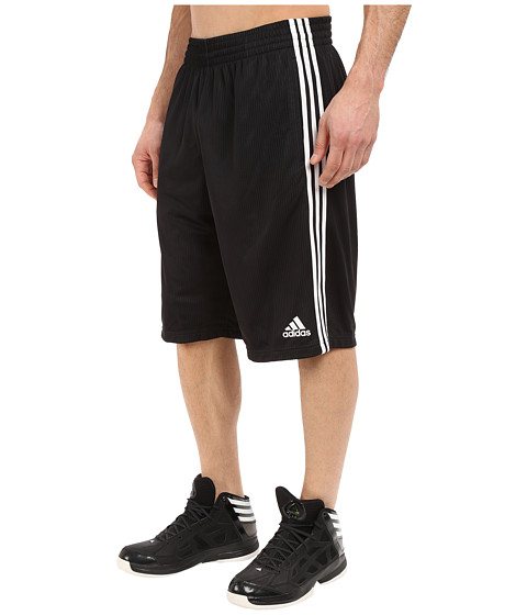 adidas - Triple Up Shorts (Black/White) Men's Shorts