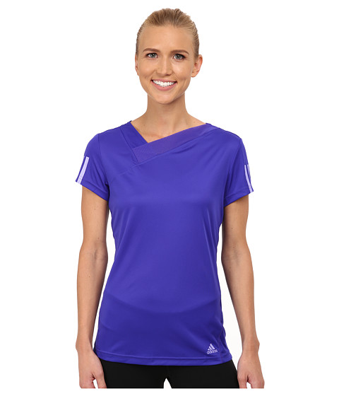 adidas - Response Tee (Night Flash Purple/Orange) Women