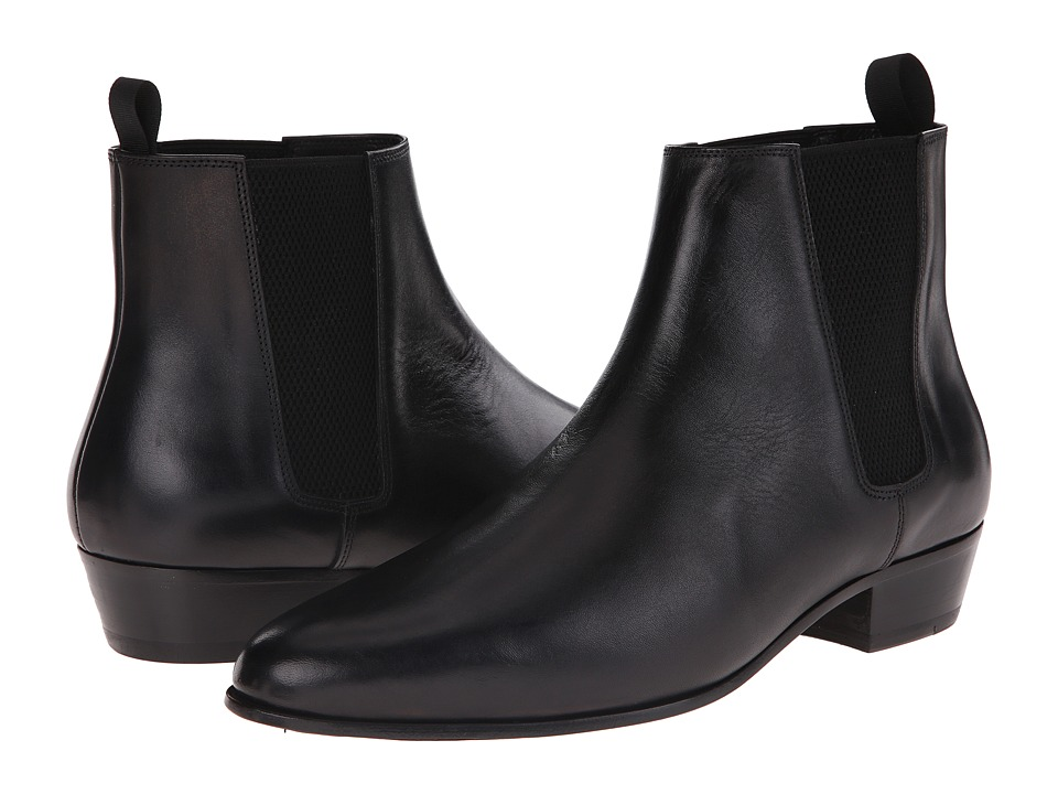 The Kooples - Smooth Leather Chelsea Boot (Black) Men's Boots