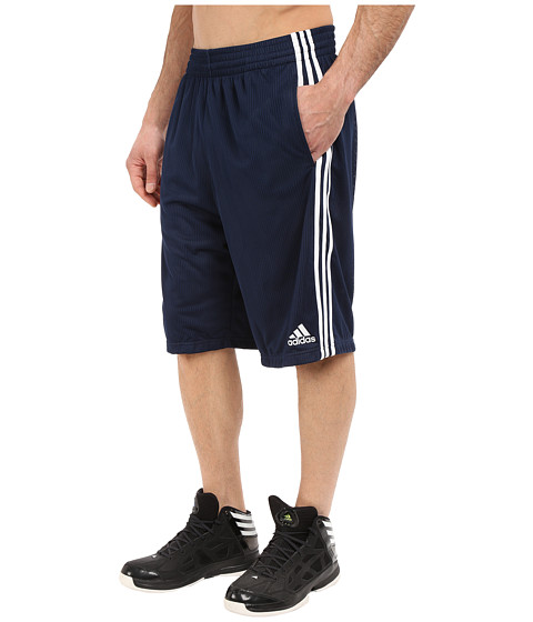 adidas - Triple Up Shorts (Collegiate Navy/White) Men