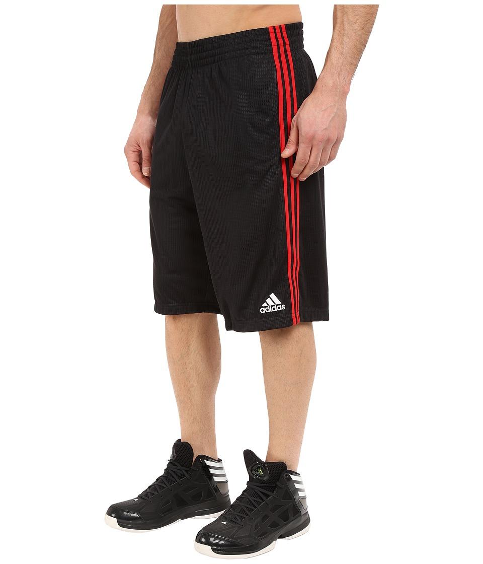 adidas - Triple Up Shorts (Black/Scarlet) Men's Shorts