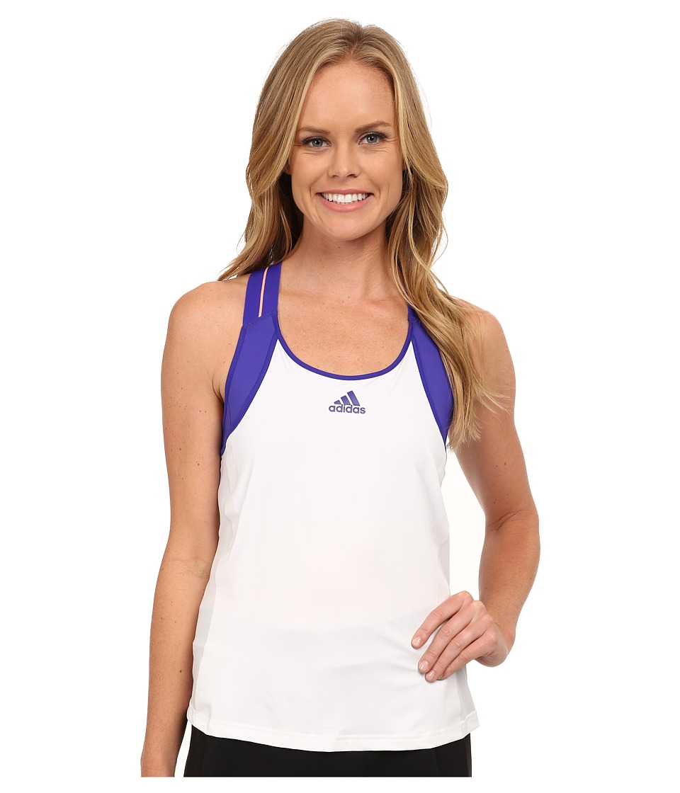 adidas - Adizero Tank Top (White/Night Flash Purple) Women