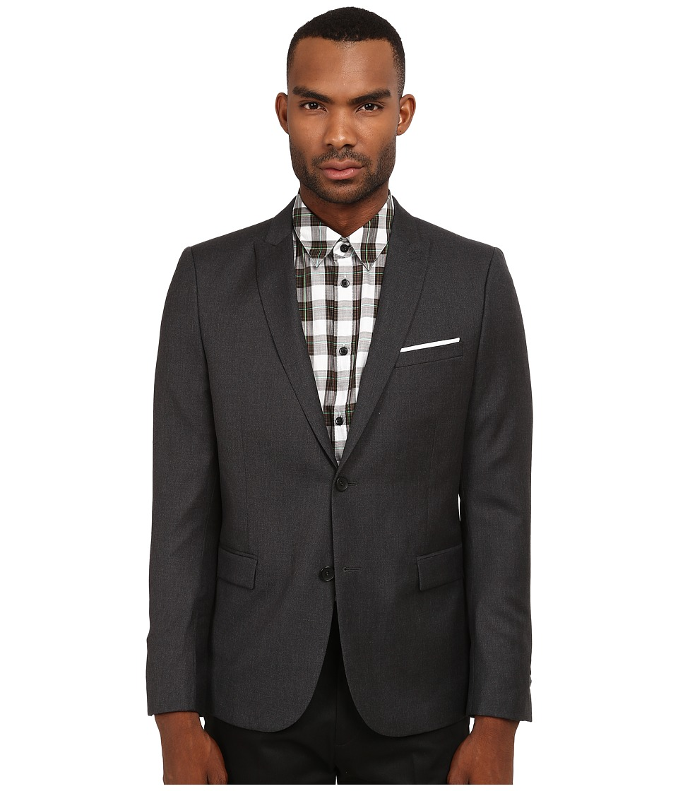 The Kooples - Fitted Tailor Super 100 Blazer (Grey) Men's Jacket