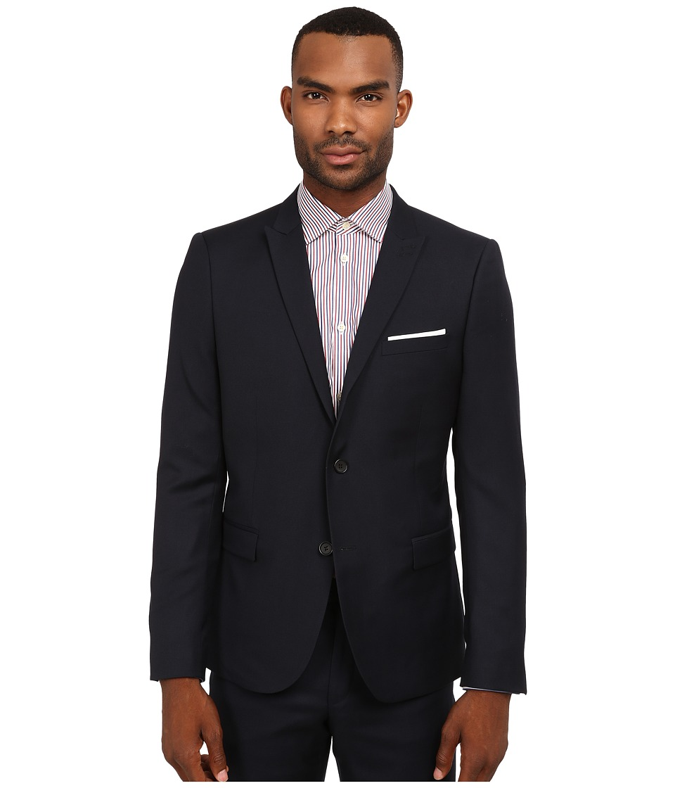 The Kooples - Classic Tailor Super 100 Blazer (Navy) Men's Jacket