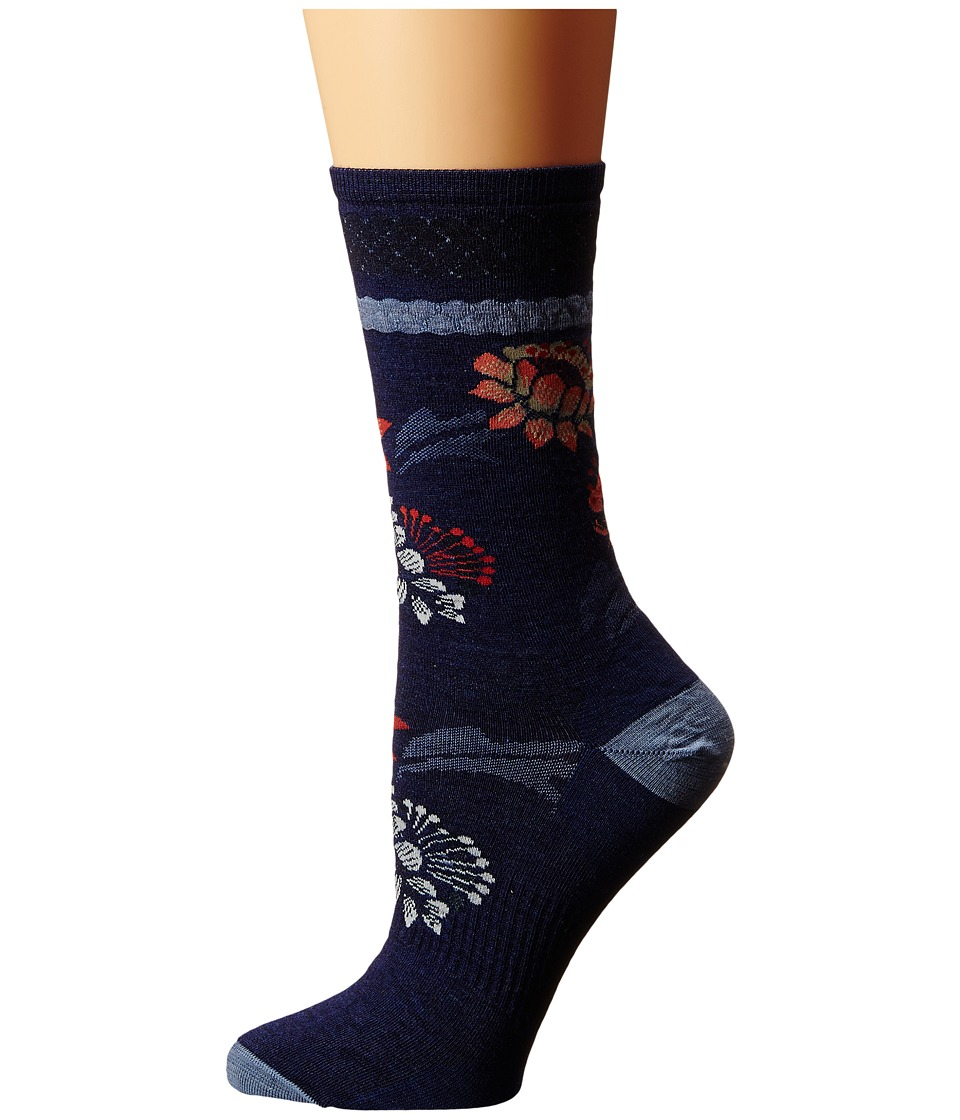 Smartwool - Blossom Bitty (Ink Heather) Women's Crew Cut Socks Shoes