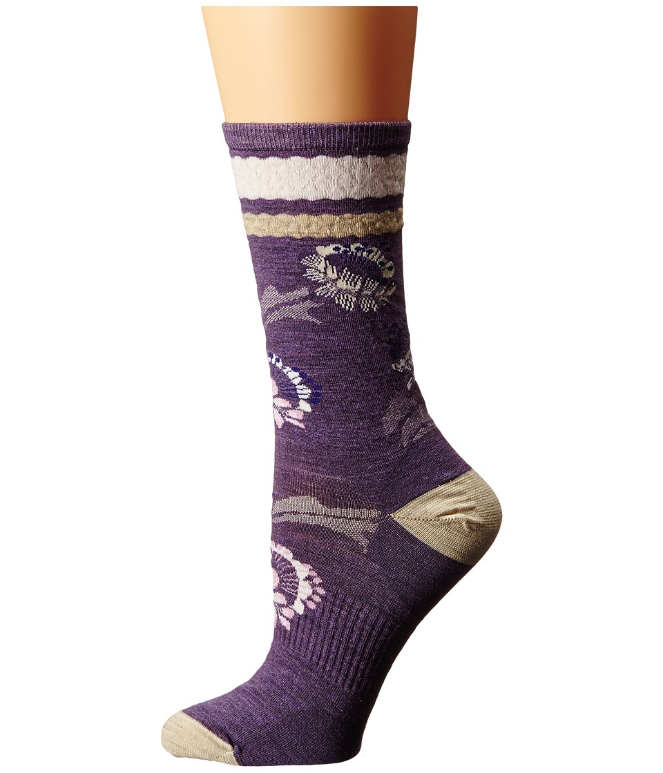 Smartwool - Blossom Bitty (Desert Purple Heather) Women's Crew Cut Socks Shoes