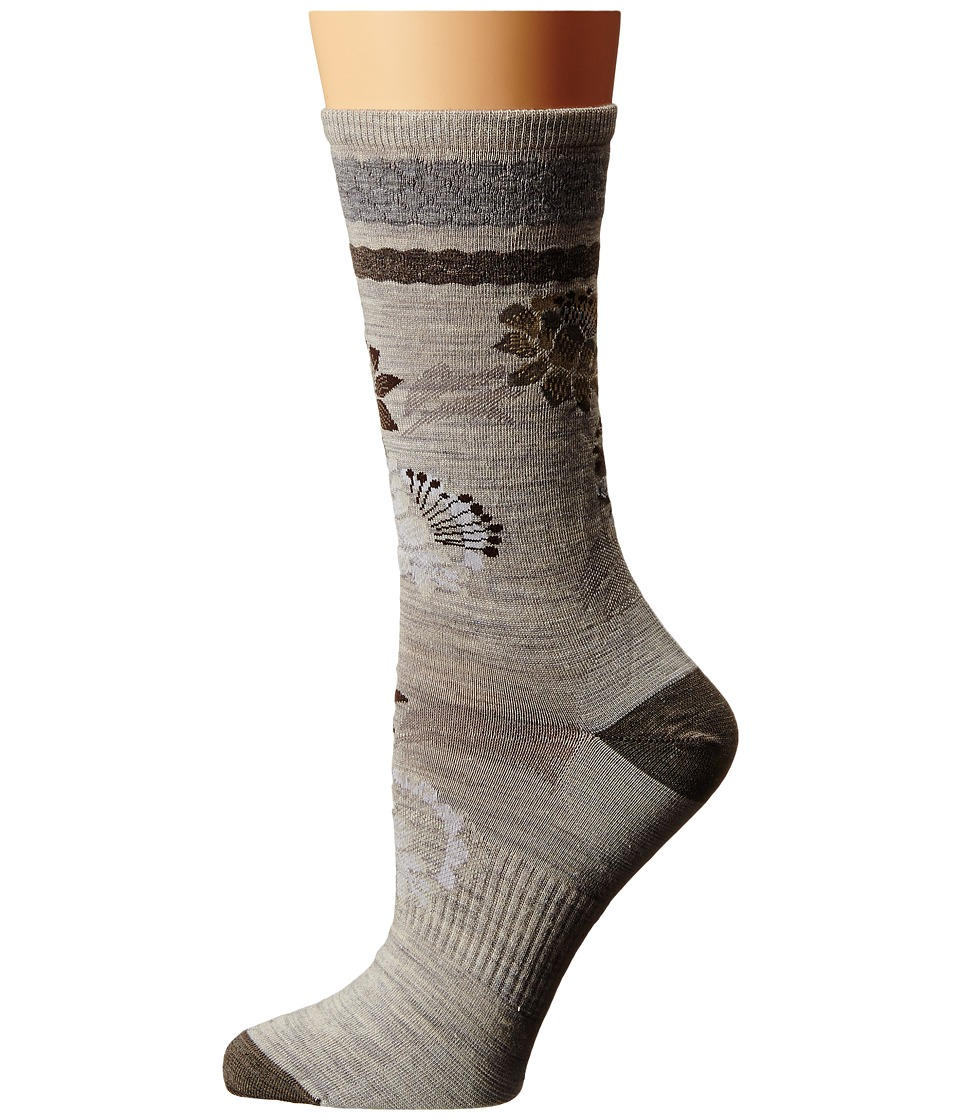 Smartwool - Blossom Bitty (Ash Heather) Women's Crew Cut Socks Shoes