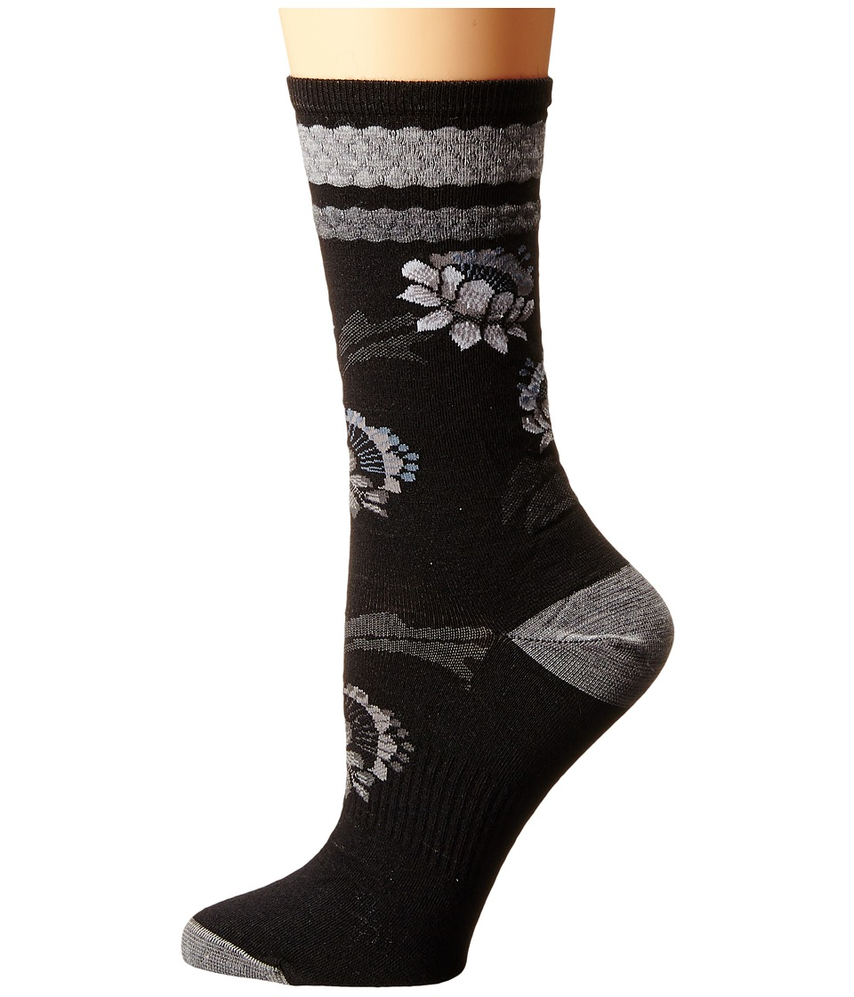 Smartwool - Blossom Bitty (Black) Women's Crew Cut Socks Shoes