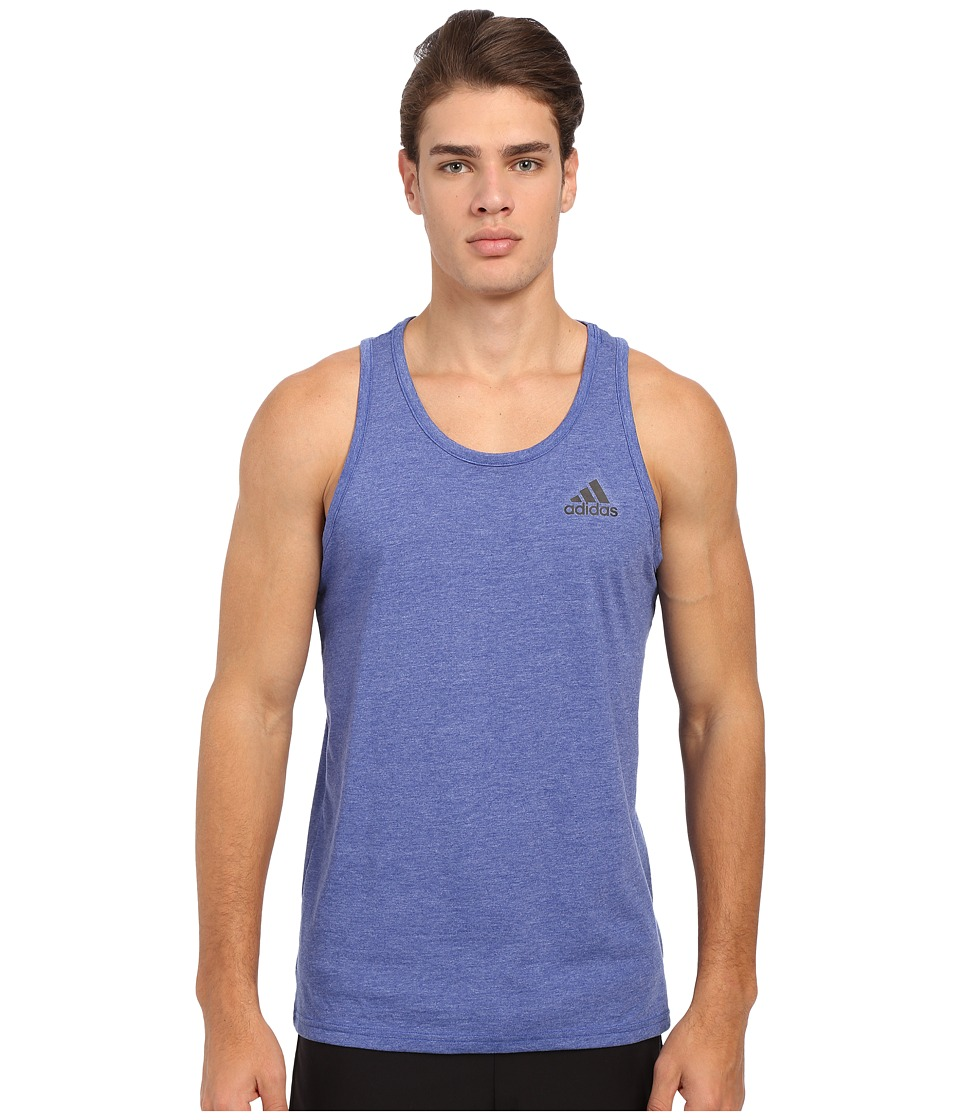 adidas - Go-To Performance Tank Top (Collegiate Royal/Colored Heather) Men