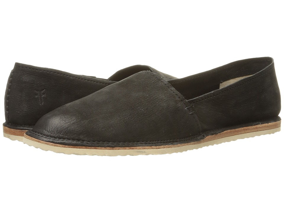 Frye - Milly A Line (Black Soft Oiled Nubuck) Women's Slip on Shoes