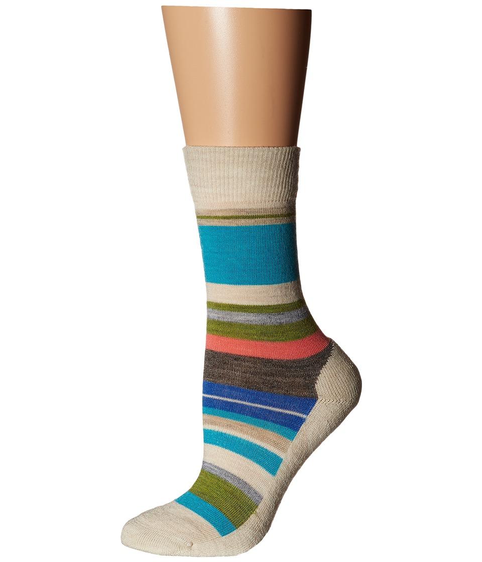 Smartwool - Saturnsphere (Natural Stripe) Women's Crew Cut Socks Shoes
