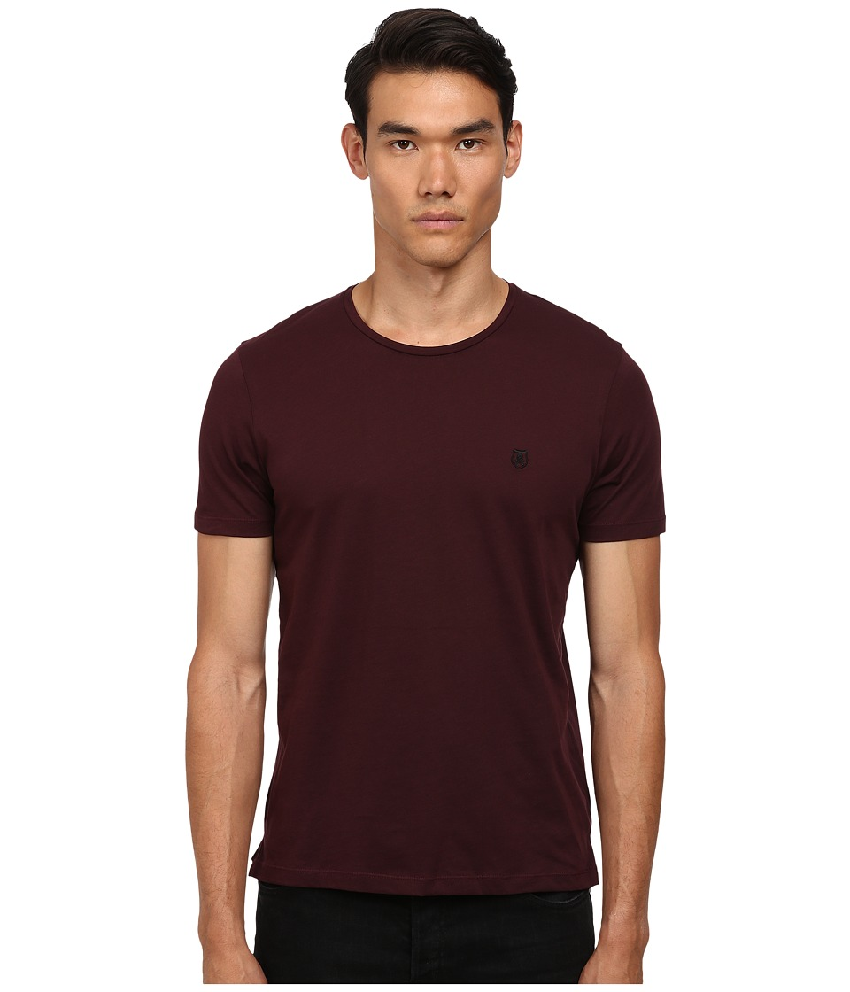 The Kooples - Sport Pima Cotton Crew Neck T-Shirt (Burgundy) Men