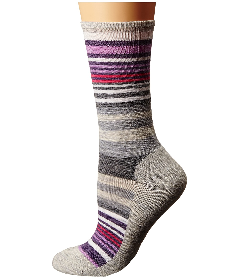 Smartwool - Jovian Stripe (Ash Heather) Women's Crew Cut Socks Shoes