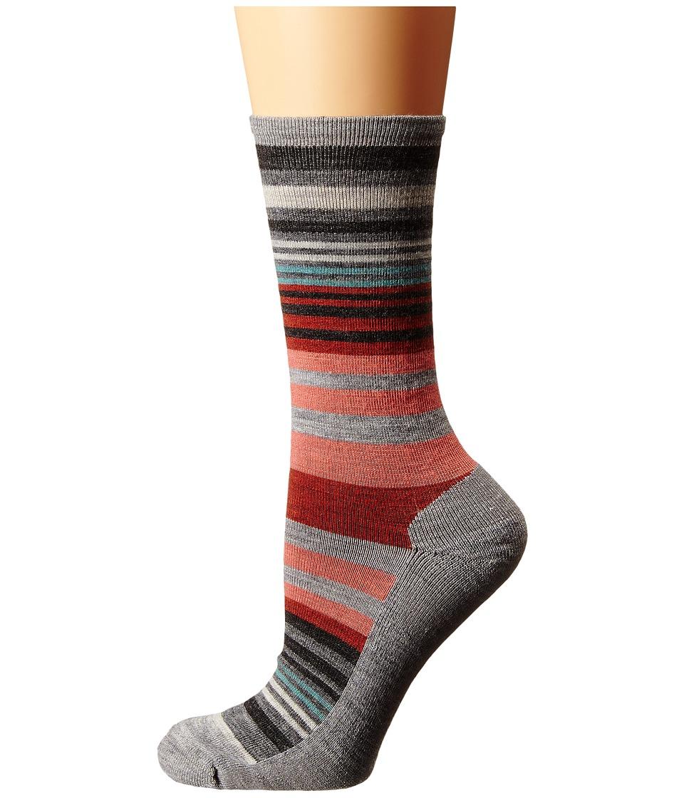Smartwool - Jovian Stripe (Light Gray Heather) Women's Crew Cut Socks Shoes