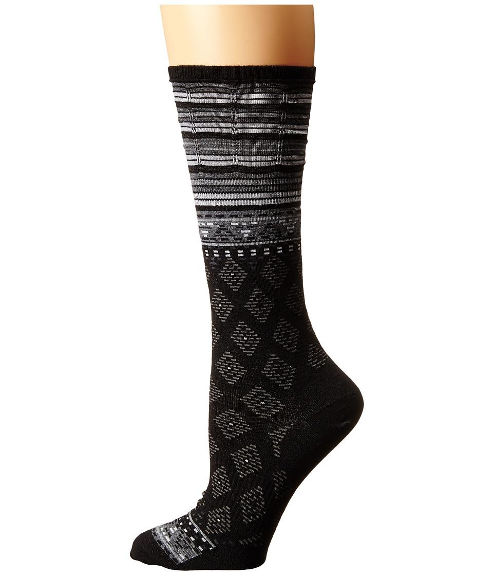 Smartwool - Rocking Rhombus Mid Calf (Black) Women's Crew Cut Socks Shoes