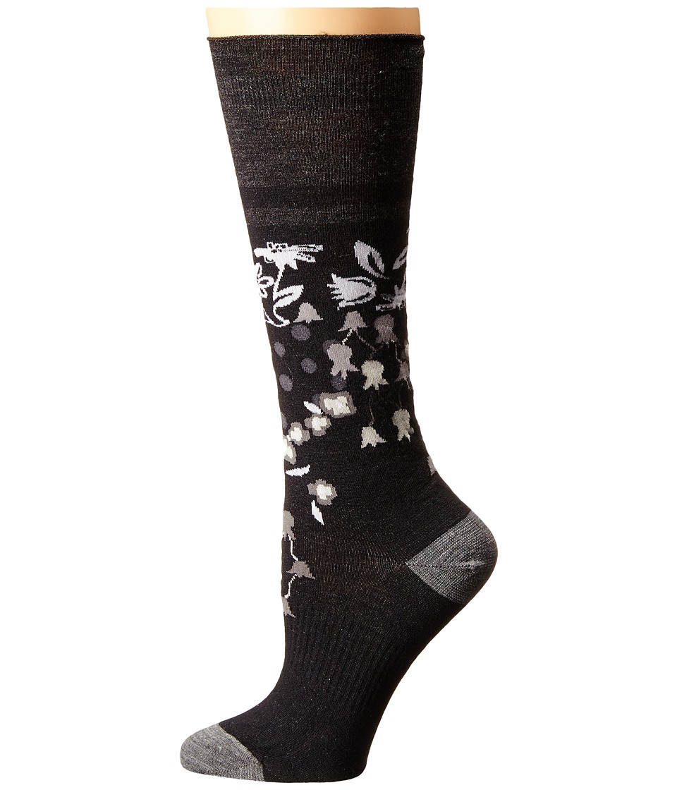 Smartwool - Everlasting Eden Mid Calf (Black) Women's Crew Cut Socks Shoes