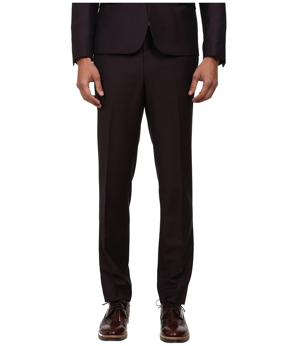 The Kooples - Iridescent Suit Trousers (Burgundy) Men's Casual Pants