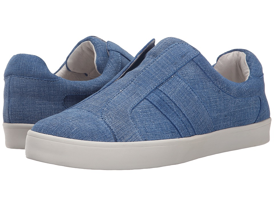 10 Crosby Derek Lam - Laurel (Blue Suede Denim) Women's Slip on Shoes