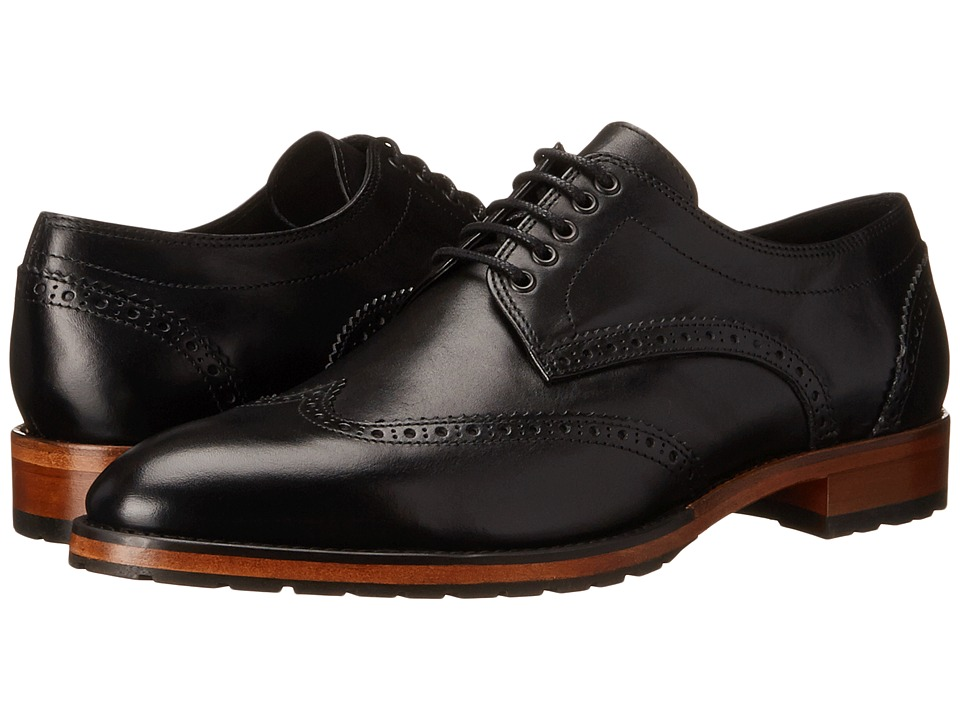 The Kooples - Smooth Leather Oxford (Black) Men