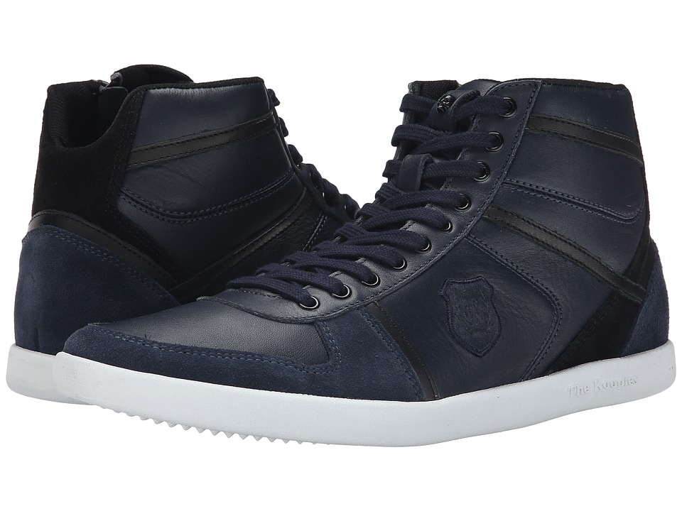 The Kooples - Sport Smooth and Split Leather Sneaker (Navy) Men