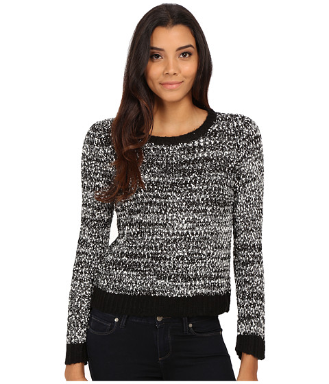 Olive & Oak - Novelty Yarn Pullover (Black Combo) Women's Sweater