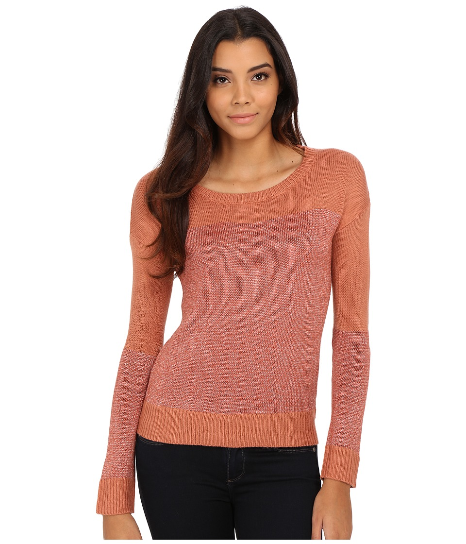 Olive & Oak - Color Block Sweater (Rose Sienna) Women's Sweater