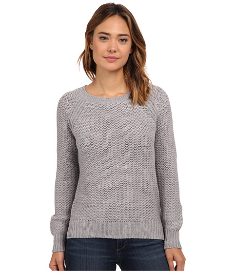 Pink Rose - Long Sleeve Raglan Sweater Top (Heather Grey) Women's Sweater