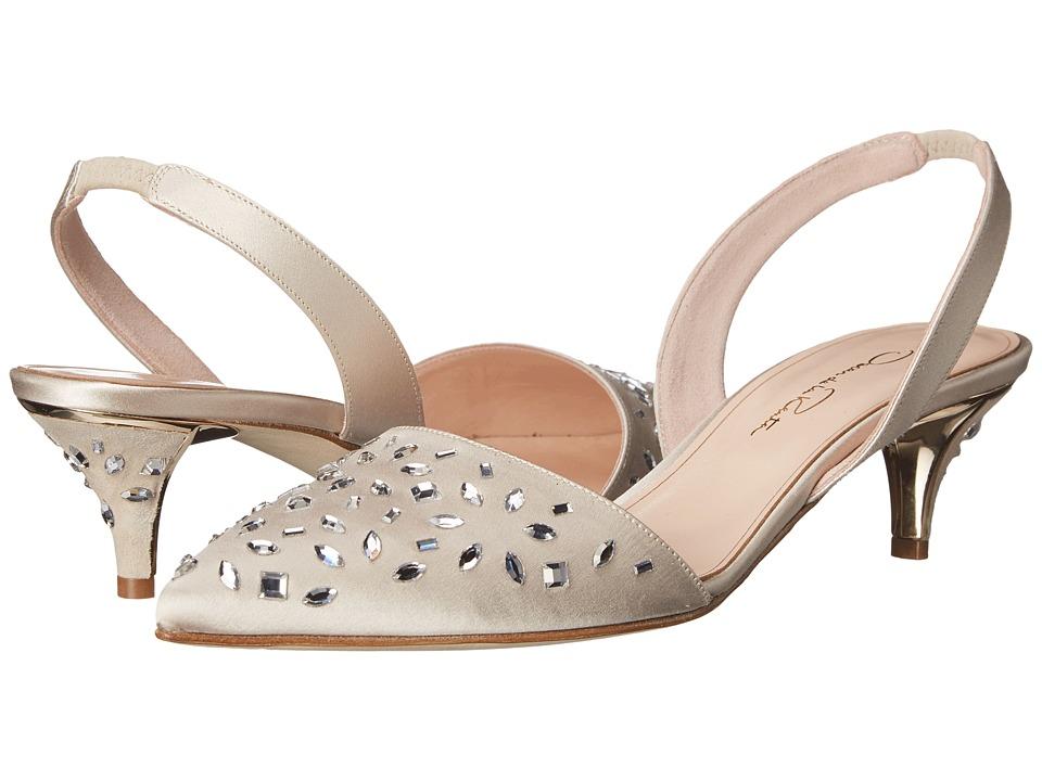 Oscar de la Renta - Sami Strass 45mm (Bisque Satin/Crystals) Women's Sling Back Shoes