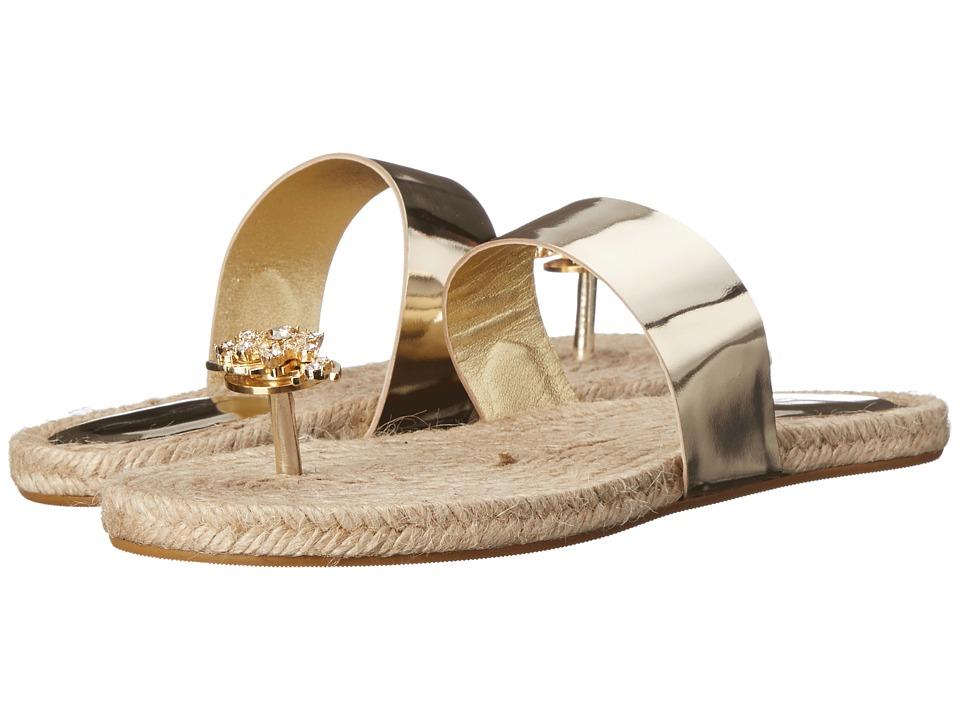 Oscar de la Renta - Angelica (Platinum Specchio) Women's Toe Open Shoes