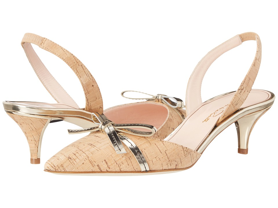 Oscar de la Renta Danni 45mm (Natural Cork/Specchio) Women