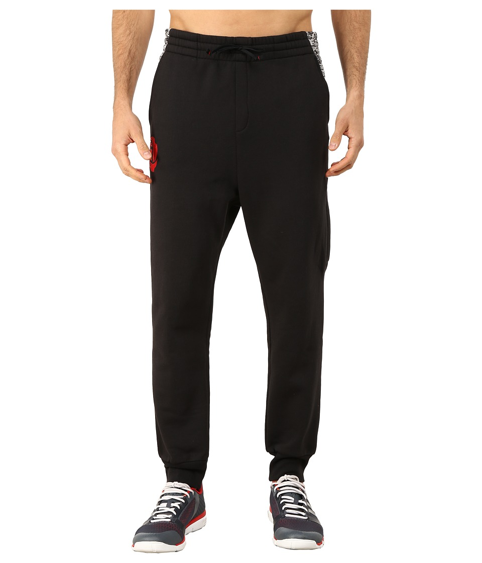 adidas - Rose Chisel Pants (Black/Scarlet Red) Men's Casual Pants