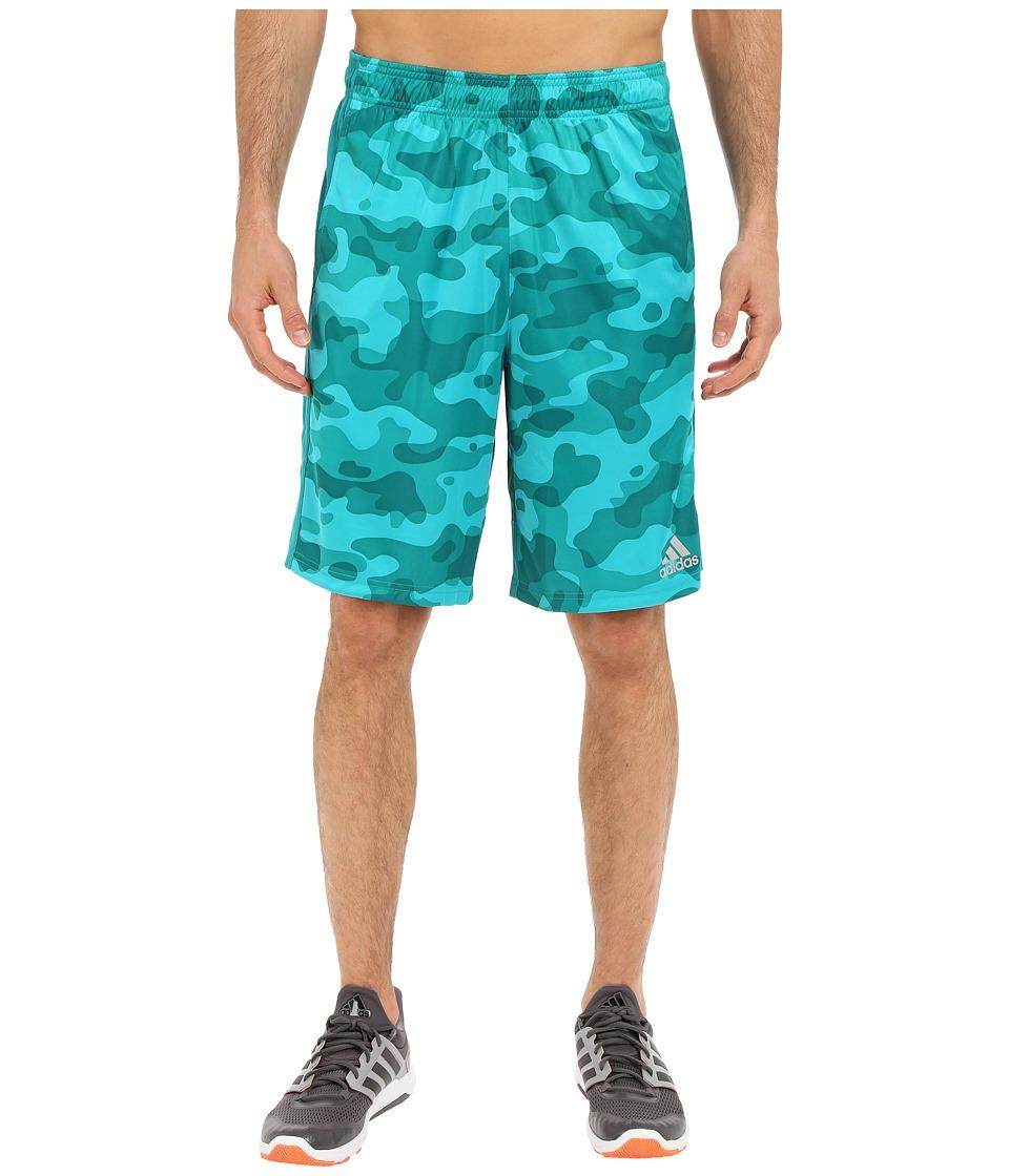 adidas - Climacore Camo Shorts (Shock Green/EQT Green) Men