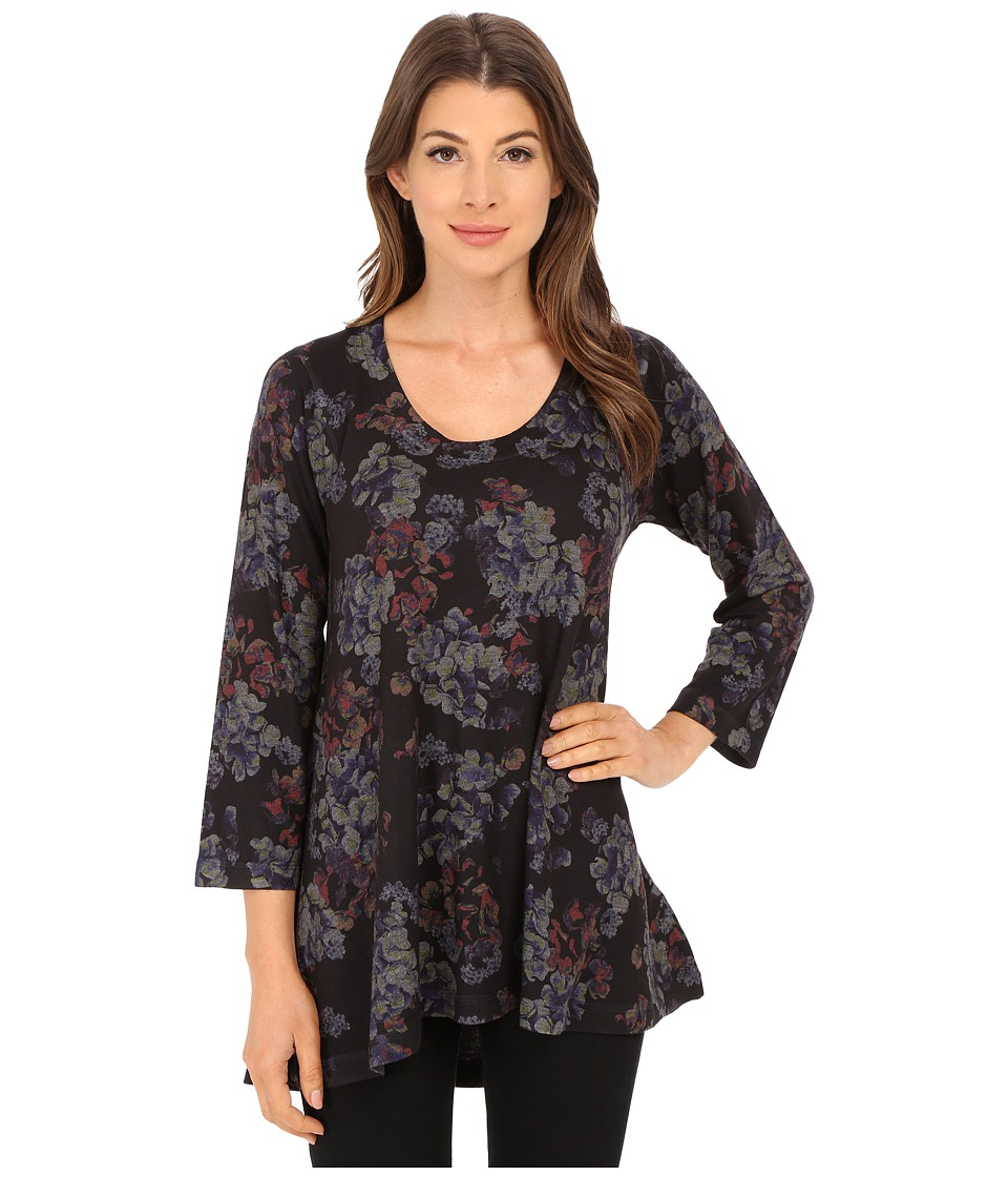 Nally & Millie - Floral High-Low Tunic (Multi) Women's Blouse
