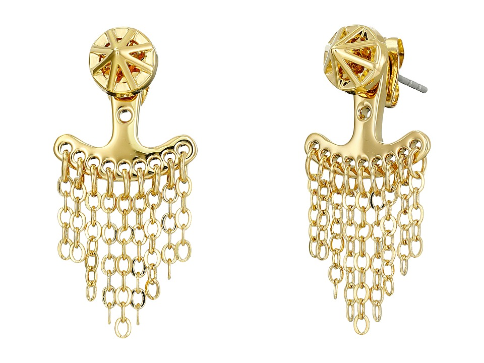 Rebecca Minkoff - Front To Back Caged Stud Earrings (Gold) Earring