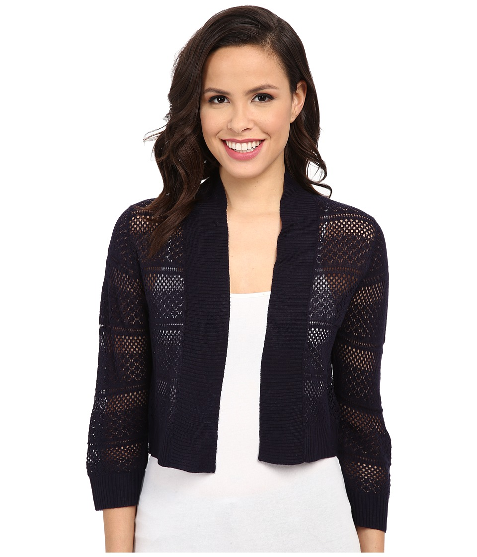 rsvp - Bre Crochet Shrug (Navy) Women's Sweater