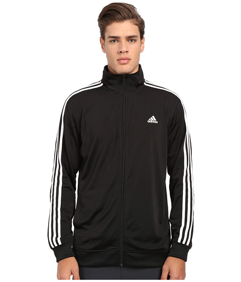 adidas - Essential Tricot Track Jacket (Black/White) Men