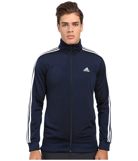 adidas - Essential Tricot Track Jacket (Collegiate Navy/White) Men's Coat