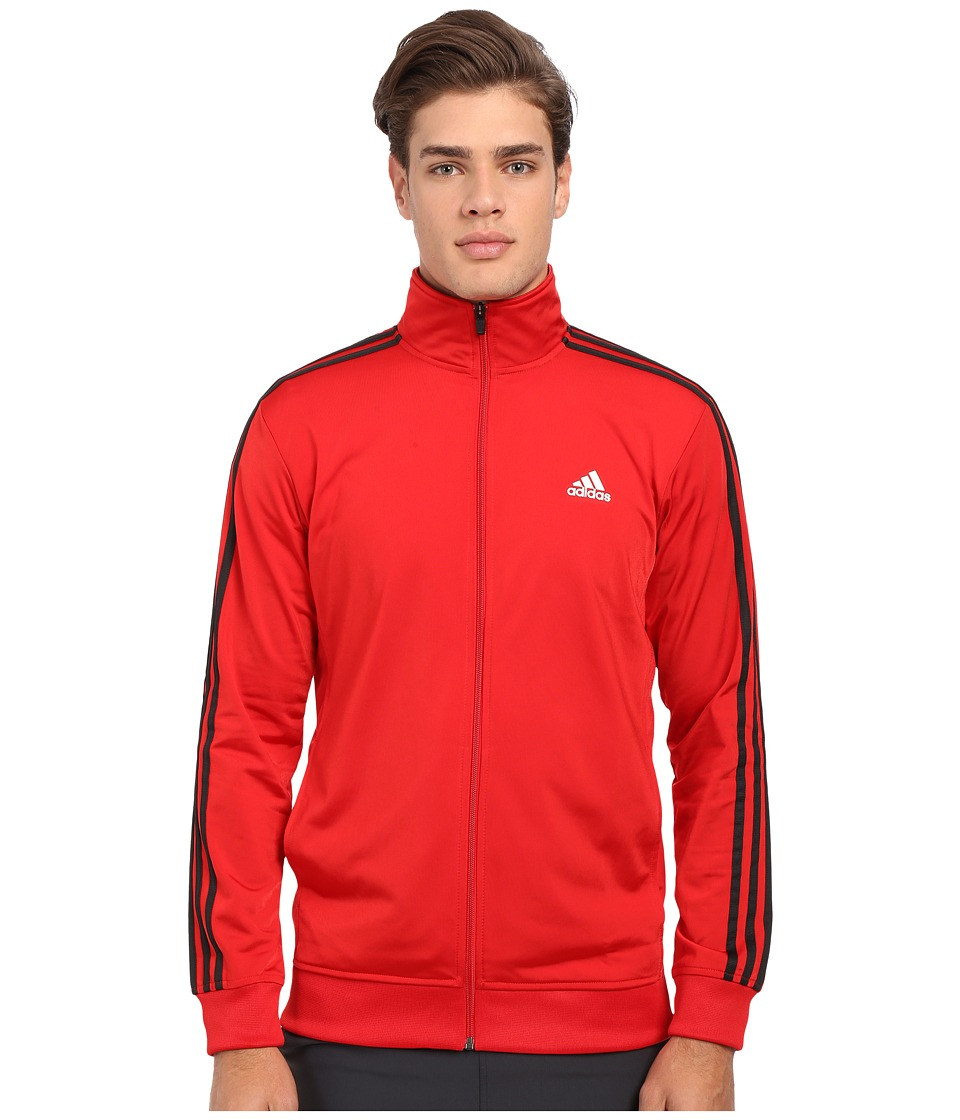 adidas - Essential Tricot Track Jacket (Scarlet/Black) Men
