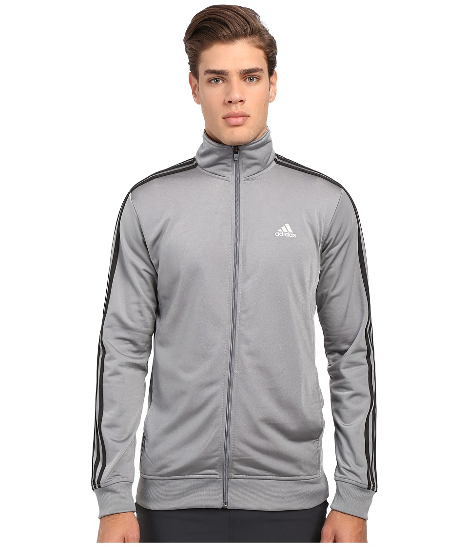 adidas - Essential Tricot Track Jacket (Grey/Black) Men
