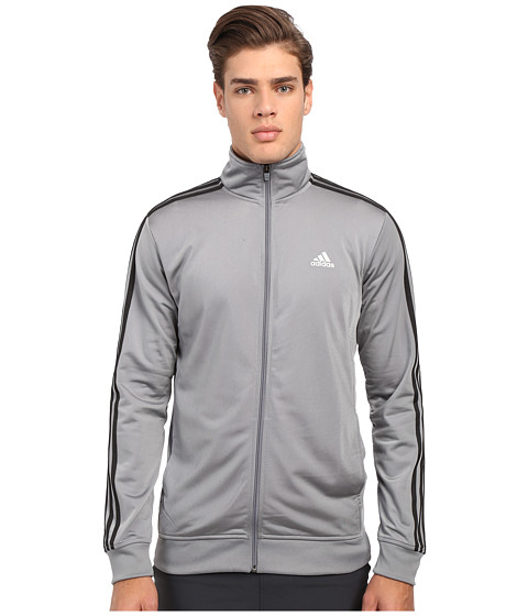 adidas - Essential Tricot Track Jacket (Grey/Black) Men's Coat