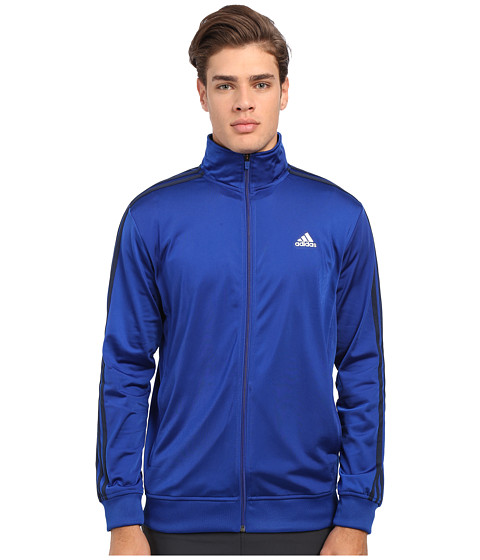 adidas - Essential Tricot Track Jacket (Collegiate Royal/Collegiate Navy) Men's Coat