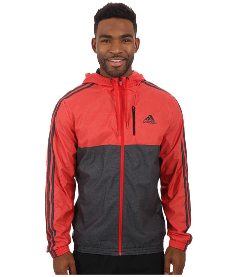adidas - Essential 3S Woven Jacket (Scarlet/Black) Men's Sweatshirt