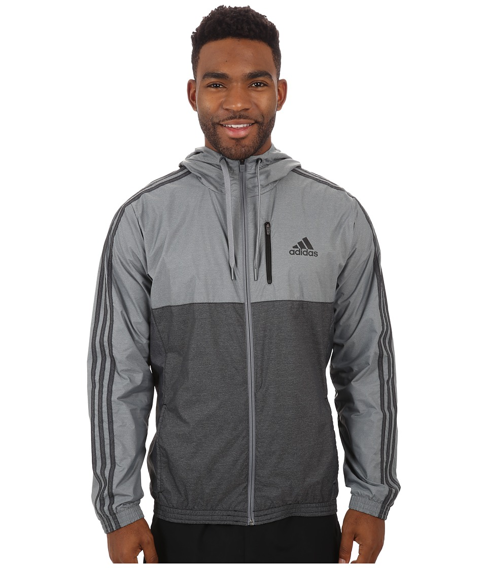 adidas - Essential 3S Woven Jacket (Vista Grey/Black) Men's Sweatshirt